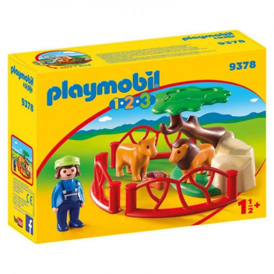 Playmobil 1.2.3 Recinto Leones - 9378