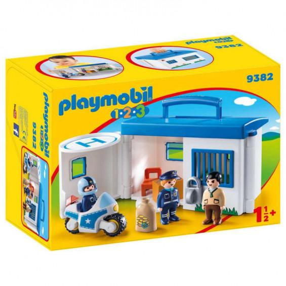 Playmobil 1.2.3 Comisaría de Policía Maletín - 9382