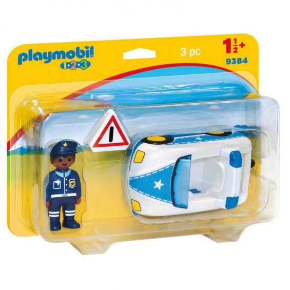 Playmobil 1.2.3 Coche de Policía - 9384