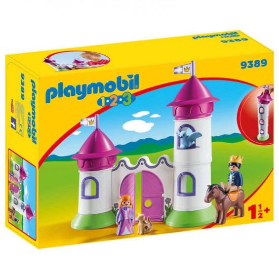 Playmobil 1.2.3 Castillo con Torre Apilable - 9389