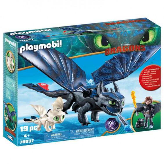 Playmobil Dragons Set de Juego Hipo y Desdentao - 70037