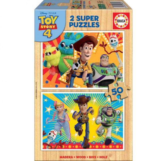 Puzzle Madera 2 x 50 Piezas Toy Story 4