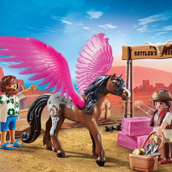 Playmobil The Movie Marla, Del y Caballo con Alas - 70074