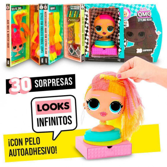 L.O.L Surprise OMG Styling Head Neonlicious