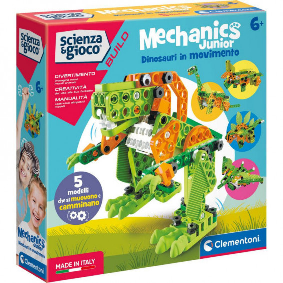 Ciencia y Juego Build Mechanics Junior Dinosaurios
