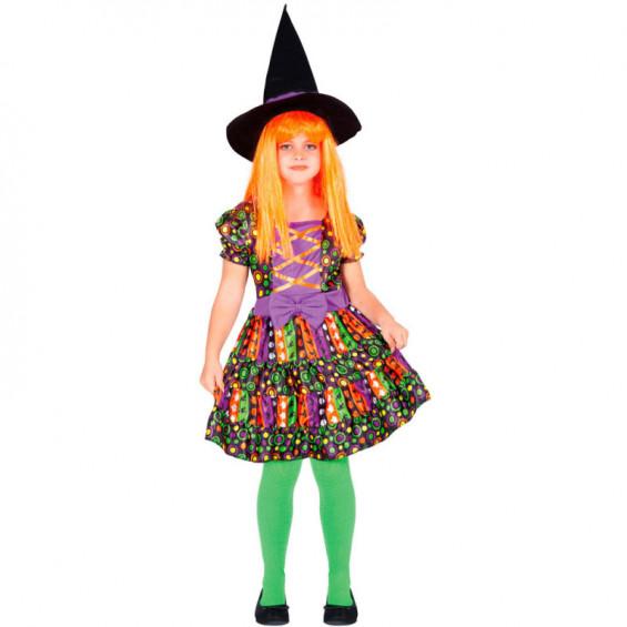 Disfraz Infantil Bruja Psicodélica Talla M