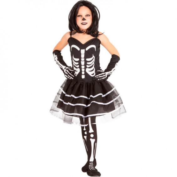 Disfraz Infantil Miss Huesos Talla S